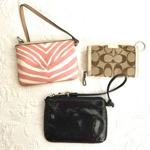 Coach wristlets bundle of 3